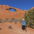 The trail is just shallow sand and is easy to traverse.- Skyline Arch Trail