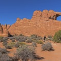 An easy way to see an arch in the park.- Skyline Arch Trail