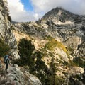 The descent from Bearpaw to Lone Pine Creek is one of the most stunning bits of trail in the entire Sierra.- Hamilton Lake