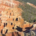 Amazing hoodoos made red, yellows and purples from iron and manganese oxides from iron.- Chessman Ridge Overlook