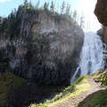 The trail takes you incredibly close to Osprey Falls.- Osprey Falls