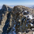 The rugged Baker Peak cirque.- Baker Peak