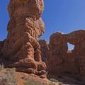 Garden of Eden, Arches National Park.- The Garden of Eden and Owl Rock