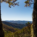 Views over the Blue Ridge Mountains from the Buck Spring Trail.- Mount Pisgah via the Buck Spring Trail