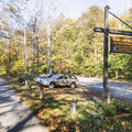 Woodland Valley parking area.- Wittenberg + Cornell Mountains