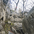 Climbing the rock faces up Wittenberg.- Wittenberg + Cornell Mountains