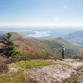 The overlook at the summit.- Wittenberg + Cornell Mountains