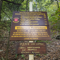 An information sign at the trailhead.- Slide, Cornell + Wittenberg Mountains