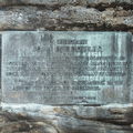 The John Burroughs plaque at the summit.- Slide, Cornell + Wittenberg Mountains