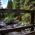 Bridge crossing at Goose Creek.- Goose Creek Falls