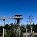 Clingmans Dome observation tower.- Appalachian Trail: Fontana Dam to Clingmans Dome