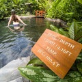 One of the several secluded pools -not private per se, but the vegetation gives some sense of privacy.- Tabacon Hot Springs