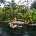 Enjoying a little hot spring soak after a hike.- Tabacon Hot Springs