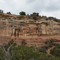 Eroded side of the mountain.- Rattlesnake Canyon Arches