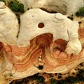 Aerial view of Hole in the Bridge Arch.- Rattlesnake Canyon Arches