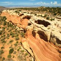 Aerial view of Rim Arch.- Rattlesnake Canyon Arches