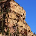Views of the Glenwood Canyon from the trailhead by the Colorado River.- Hanging Lake