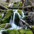 The trail follows Dead Horse Creek toward the lake.- Hanging Lake