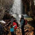 Although steep and rocky, the fairly short distance makes this hike popular for families with kids.- Hanging Lake