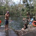 The swimming area is surrounded with comfortable walkways.- Wekiwa Springs State Park