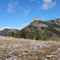 Take a small detour to an open meadow with an excellent view of Storm Castle Peak.- Garnet Mountain