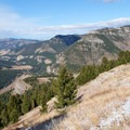 A better vantage point of Storm Castle Peak and the Gallatin Canyon.- Garnet Mountain