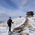 The Garnet Mountain Fire Lookout can be reserved for the night.- Garnet Mountain