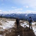 The snowcapped peaks of the Gallatin and Madison Range are all around you.- Garnet Mountain
