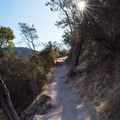 The High Peaks Trail, Pinnacles National Park.- Climbing West of the Reservoir