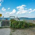 Entry onto the breakwater.- Spring Point Ledge Lighthouse