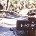 The trail crosses the John Muir and Pacific Crest trails.- Rainbow Falls Upper and Lower