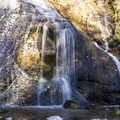 Small but pretty waterfall on the outlet creek.- Sotcher Lake