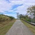 Walking up the hill.- Fort Negley