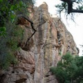 Discovery Wall as viewed from the Moses Spring Trail, Pinnacles National Park.- Moses Spring Trail