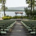 Apgar amphitheater on the shore of Lake McDonald.- Apgar Campground