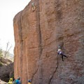 The east face of The Monolith in Pinnacles National Park.- The Monolith