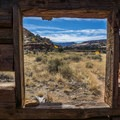 Looking out of Kirk's Cabin.- Salt Creek Canyon