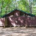 Campground restrooms.- Pawtuckaway State Park Campground