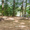 Typical campsite.- Pawtuckaway State Park Campground