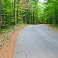 Entrance to the campground.- Bear Brook State Park Campground