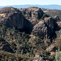 Views west from Tunnel Trail, Pinnacles National Park.- Tunnel Trail