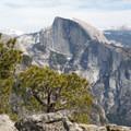 Half Dome from Yosemite Point.- North Dome via Yosemite Falls