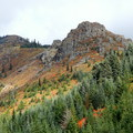 Midway up, looking toward Pyramid Rock.- Silver Star Mountain via Grouse Vista Trailhead