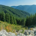 A view of the valley from the quarry's edge.- Wildcat Mountain via Douglas Trail