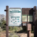 Signage at the entrance to Piñyon Flat Campground.- Piñyon Flat Campground