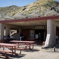 The Trading Post functions as a visitor center and a gift shop.- West Fork Falls