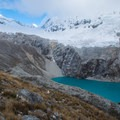 Laguna 69 as seen from above.- Laguna 69 via Pisco Basecamp