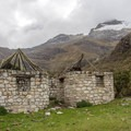 Inca ruins can be found along many of Peru's treks.- Laguna 69 via Pisco Basecamp