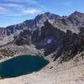 Big Pothole Lake below Kersarge Pass and University Peak. - Kersarge Pass