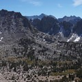 Panorama from Kersarge Pass to the Kersarge Pinnacles.- Kersarge Pass